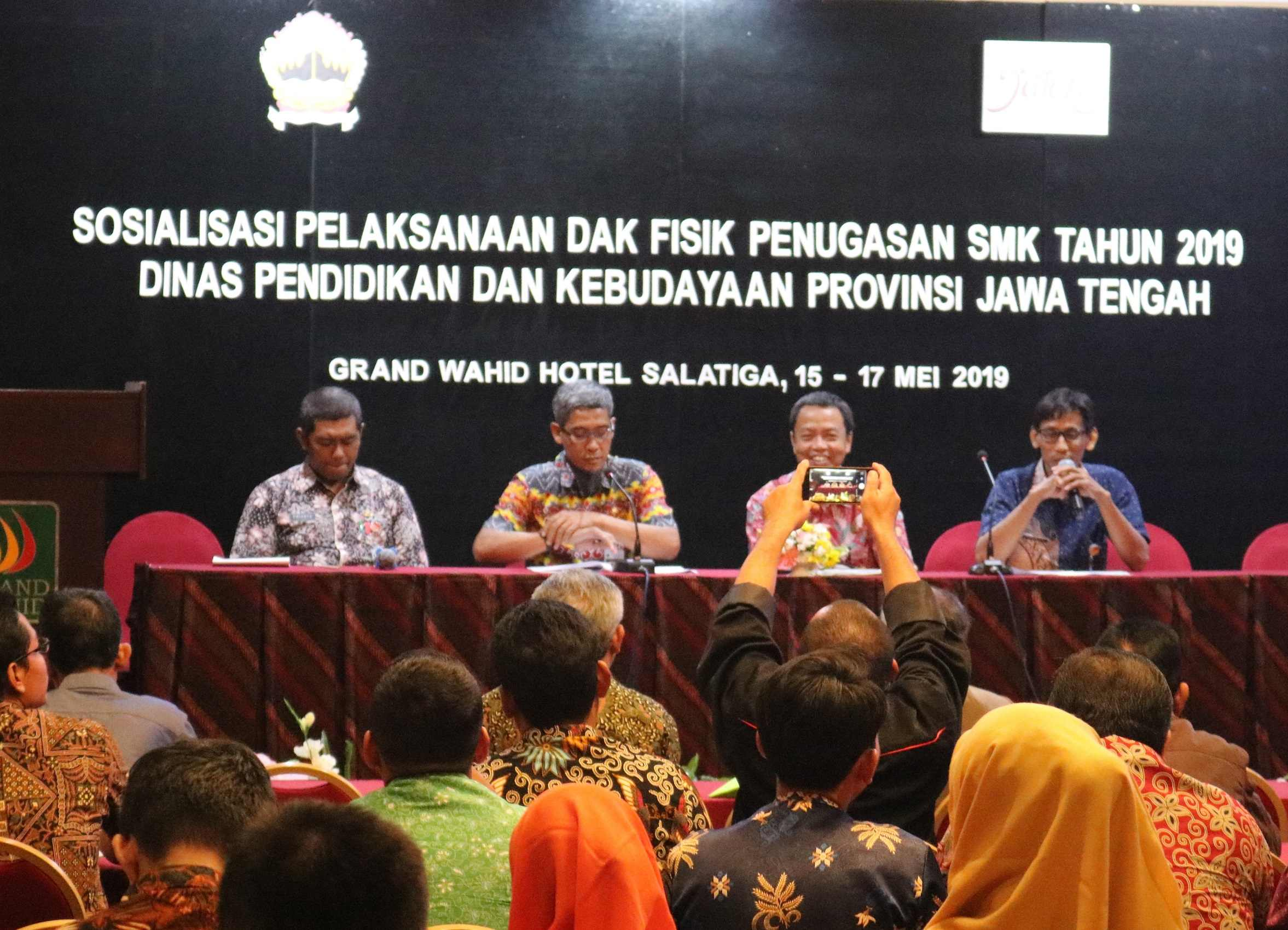 Sosialisasi Pelaksanaan DAK Fisik Penugasan SMK Tahun 2019 Dinas P dan K Provinsi Jawa Tengah