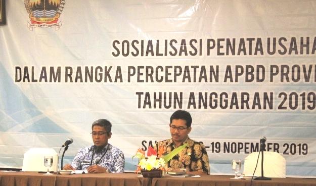 Sosialisasi Penatausahaan Dalam Rangka Percepatan APBD Provinsi Jawa Tengah Tahun Anggaran 2019 di Hotel Laras Asri Salatiga